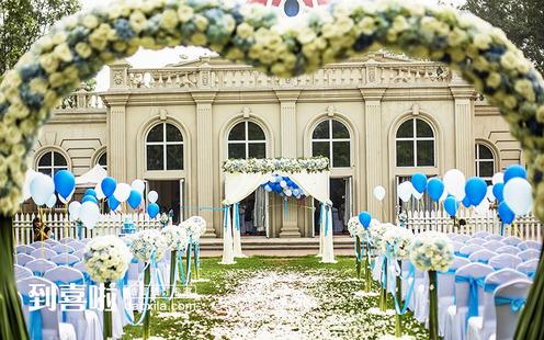朝阳公园婚礼堂外观采用经典欧式宫殿造型
