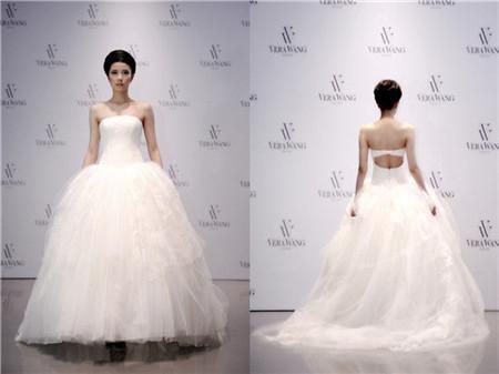 verawang婚纱设计赏 秋冬蕾丝元素婚纱图片