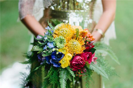森林系绿色户外主题婚礼