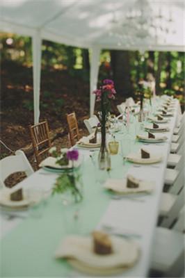 纯净清新的森系户外婚礼